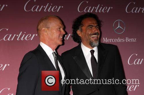 Michael Keaton and Alejandro Gonzalez Inarritu