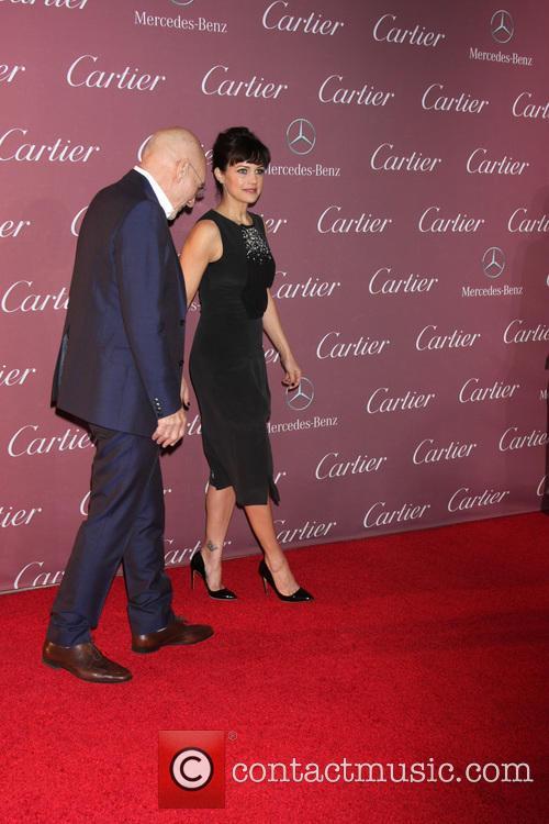Patrick Stewart and Carla Gugino