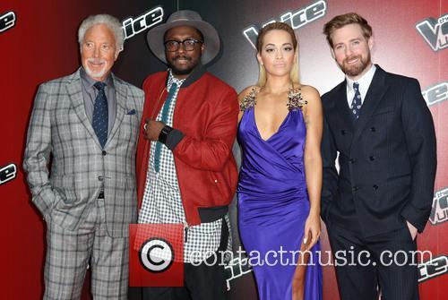 Rita Ora, Ricky Wilson, Will.i.am and Tom Jones