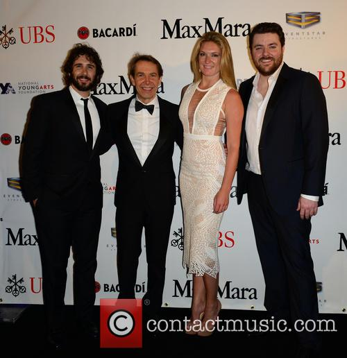 Josh Groban, Jeff Koons, Sarah Arison and Chris Young 9