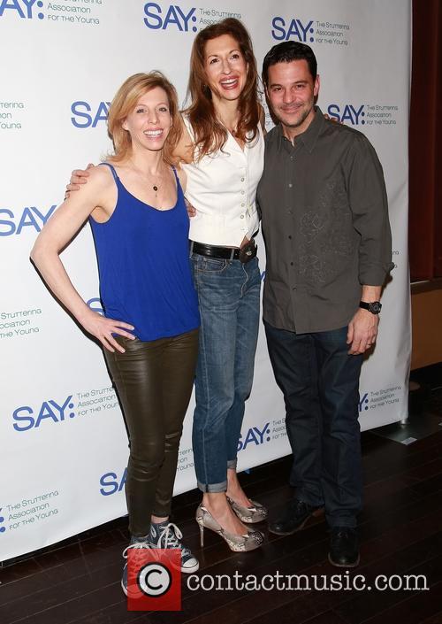 Maddie Corman, Alysia Reiner and David Alan Basche 1