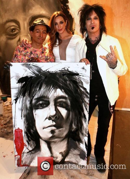 Robert Vargas, Courtney Sixx and Nikki Sixx
