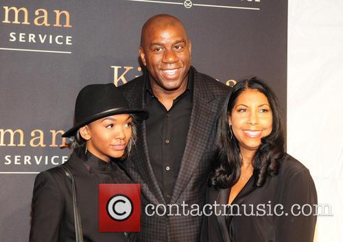 Magic Johnson, Earlitha Kelly and Elisa Johnson