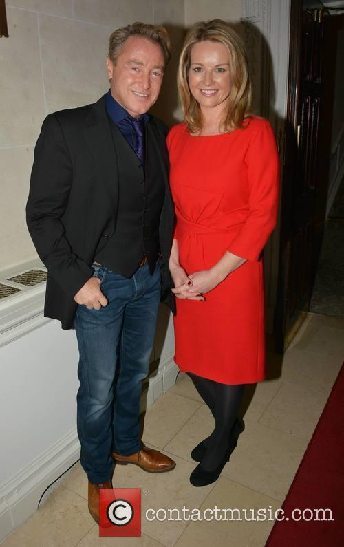 Michael Flatley and Claire Byrne