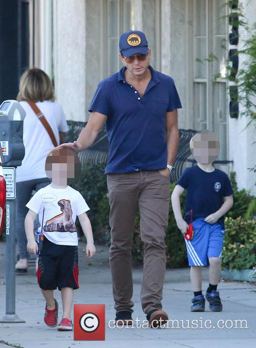 Will Arnett, Archie Arnett and Abel Arnett