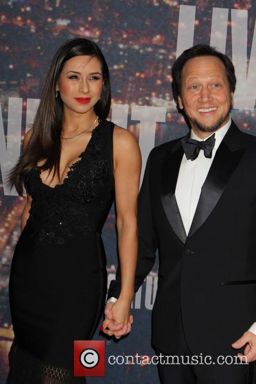 Rob Schneider and Patricia Azarcoya Srce