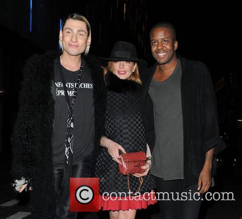 Kyle De'volle, Lindsay Lohan and Vas J Morgan 2
