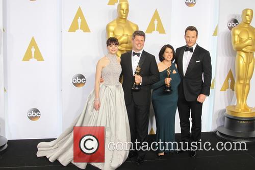 Felicity Jones, Adam Stockhausen, Anna Pinnock and Chris Pratt