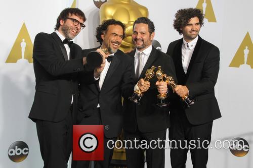 Nicolas Giacobone, Alejandro Gonzalez Inarritu, Alexander Dinelaris and Armando Bo