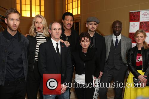 Calvin Harris, Lisa Stansfield, Sara Dallin, Lionel Richie, Ozwald Boateng, Boy George, David Thomas and Emilia Fox