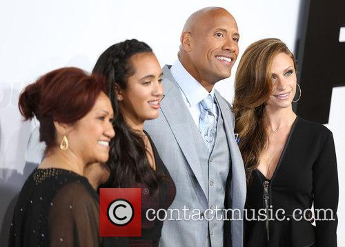 Ata Johnson, Simone Alexandra Johnson, Dwayne Johnson and Lauren Hashian 5