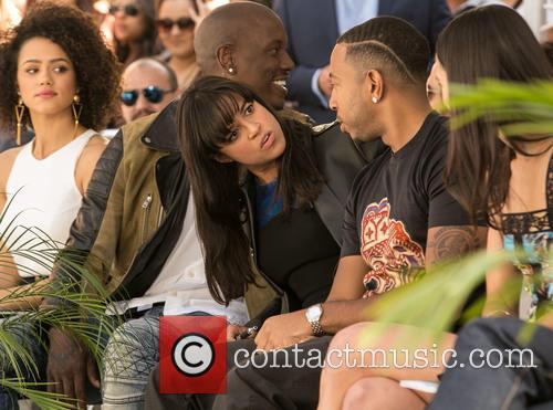 Nathalie Emmanuel, Tyrese Gibson, Michelle Rodriguez, Ludacris and Jordana Brewster 1