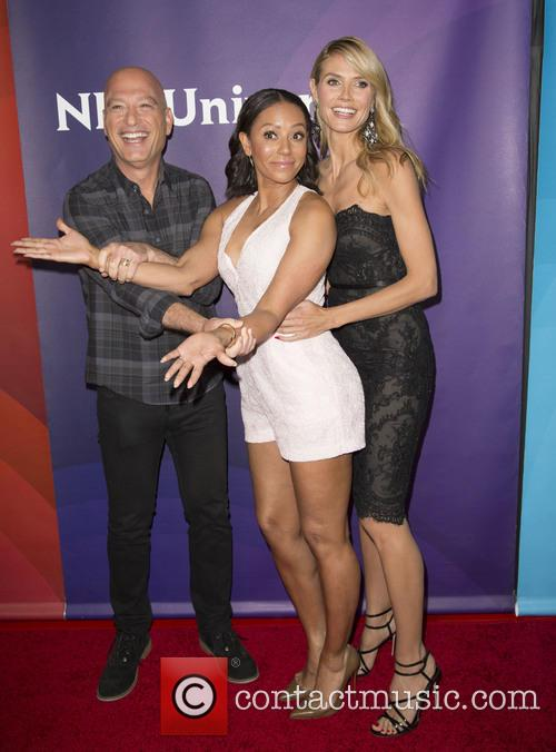Howie Mandel, Mel B and Heidi Klum