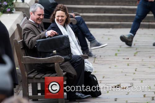 Olivia Colman and Neil Morrissey