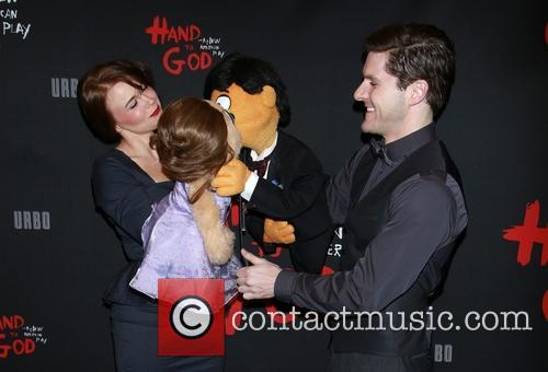 Bono, Avenue Q Cast, Kate Monster, Princeton and Seth Rothberg 1