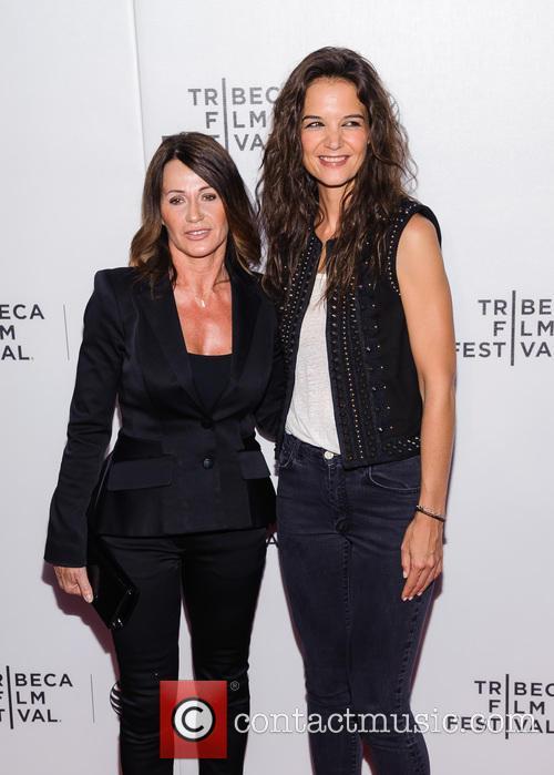 Nadia Comaneci and Katie Holmes