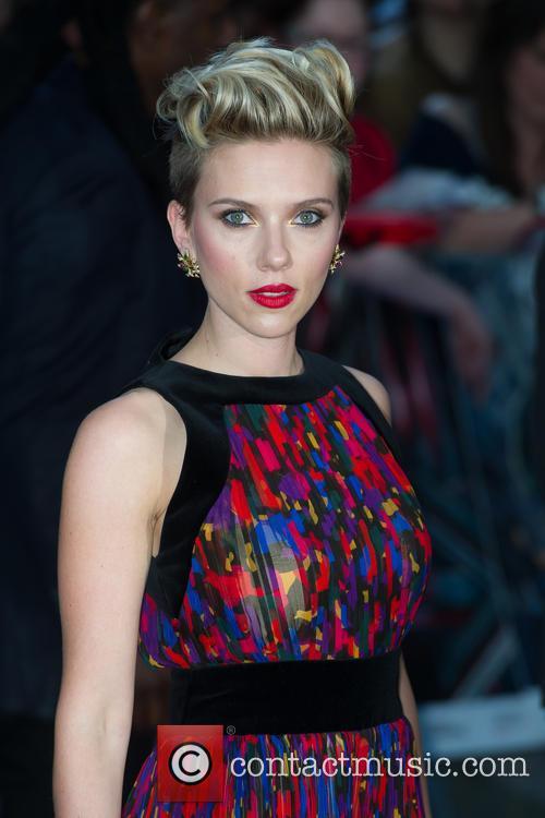 Scarlett Johansson attends the UK premiere of Avengers: Age of Ultron