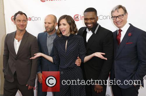 Jude Law, Jason Statham, Rose Byrne, Curtis 50 Cent Jackson and Paul Feig 3