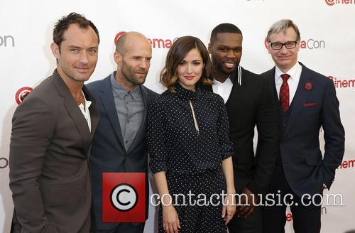 Jude Law, Jason Statham, Rose Byrne, Curtis 50 Cent Jackson and Paul Feig 1