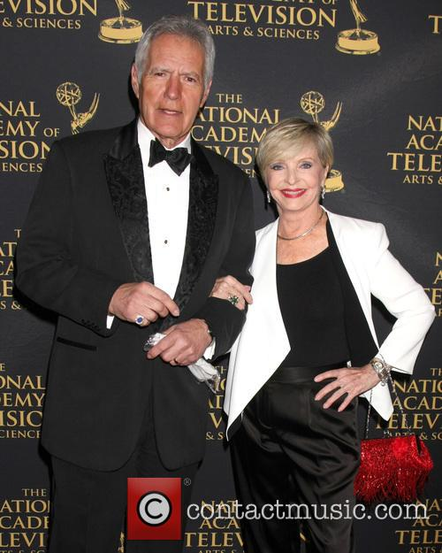 Alex Trebek and Florence Henderson