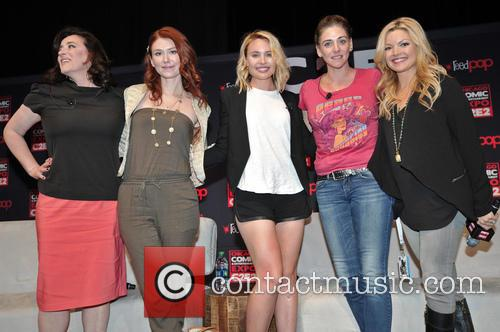 Maria Doyle Kennedy, Jewel Staite, Leah Pipes, Neve Mcintosh and Clare Kramer