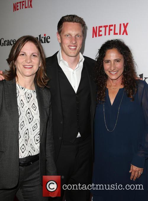 Dana Goldberg, David Ellison and Marcy Ross
