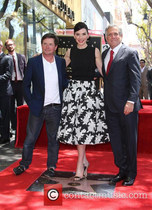 Michael J. Fox, Julianna Margulies and Leslie Moonves 2