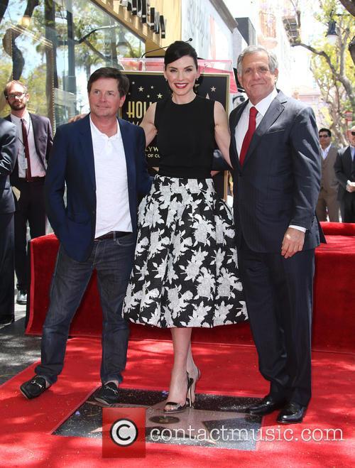 Michael J. Fox, Julianna Margulies and Leslie Moonves 3