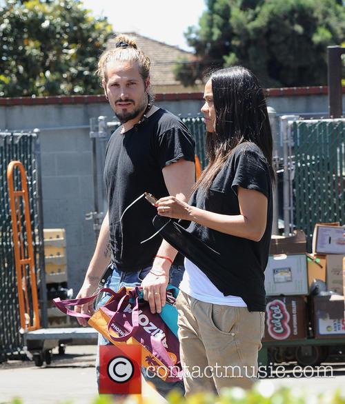 Zoe Saldana and Marco Perego 5