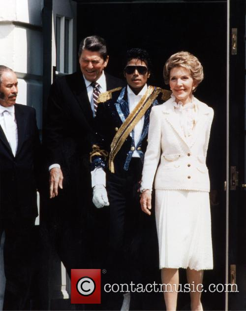 Nancy Reagan, Nancy Davis, Ronald Reagan and Michael Jackson