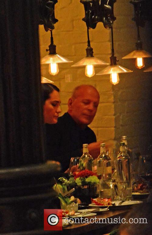 Bruce Willis, His Wife Emma Heming-willis Having Dinner With Karolina Kurkova and Archie Drury