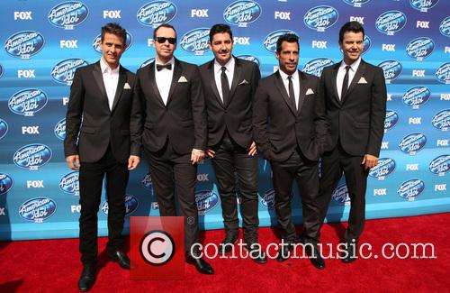 Joey Mcintyre, Donnie Wahlberg, Jonathan Knight, Danny Wood and Jordan Knight Of New Kids On The Block