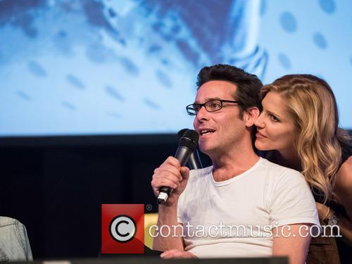 Tricia Helfer and James Callis