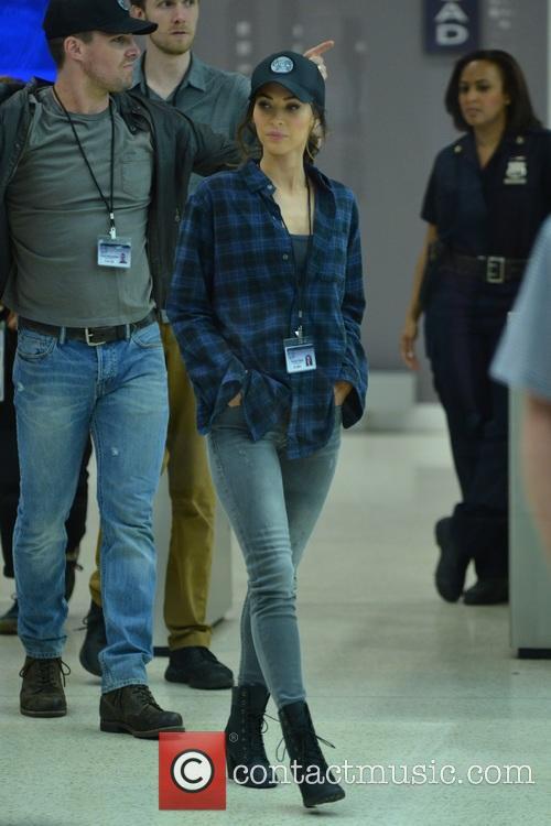 Megan Fox, Will Arnett and Stephan Amell 8