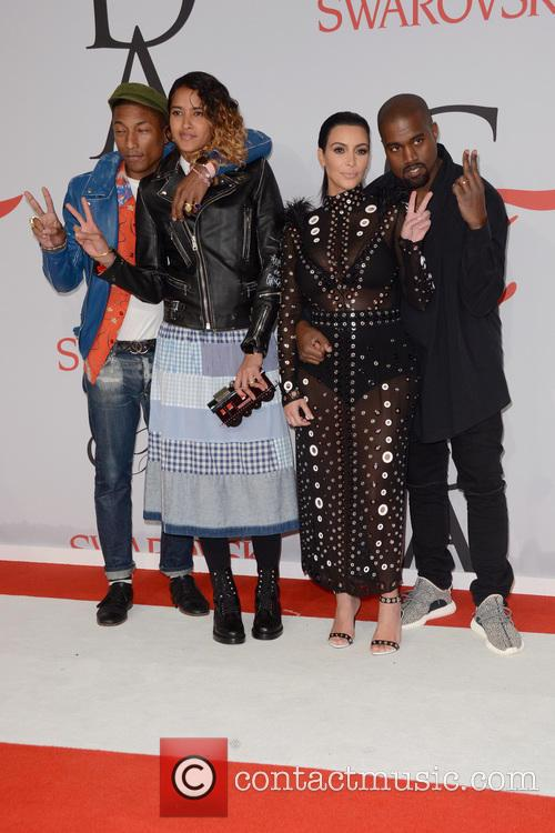 Pharrell Williams, Helen Lasichanh, Kim Kardashian and Kanye West