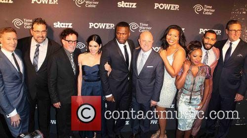 Cast Of Power, Joseph Sikora, Carmi Zlotnik, Mark Canton, Lela Loren, Curtis '50 Cent' Jackson, Chris Albrecht, Courtney Kemp Agboh, Naturi Naughton, Omari Hardwick and And David Knoller