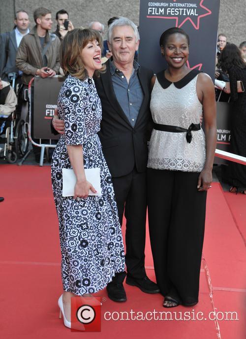 Jo Hartley, Denis Lawson and Jaqueline Lyanga
