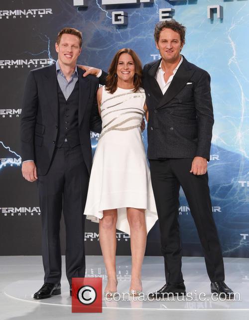 Jason Clarke, Dana Goldberg and David Ellison
