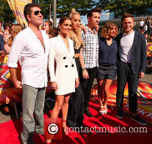 Cheryl Ann Fernandez-versini, Simon Cowell, Nick Grimshaw, Rita Ora, Olly Murs and Caroline Flack 6