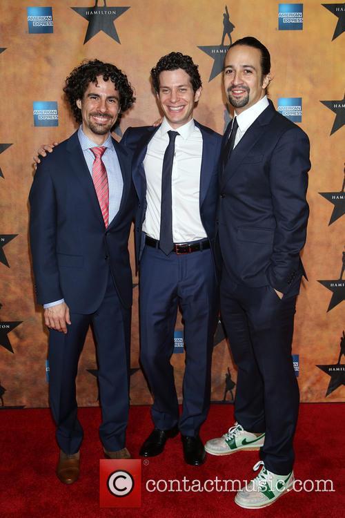 Alex Lacamoire, Thomas Kail and Lin-manuel Miranda