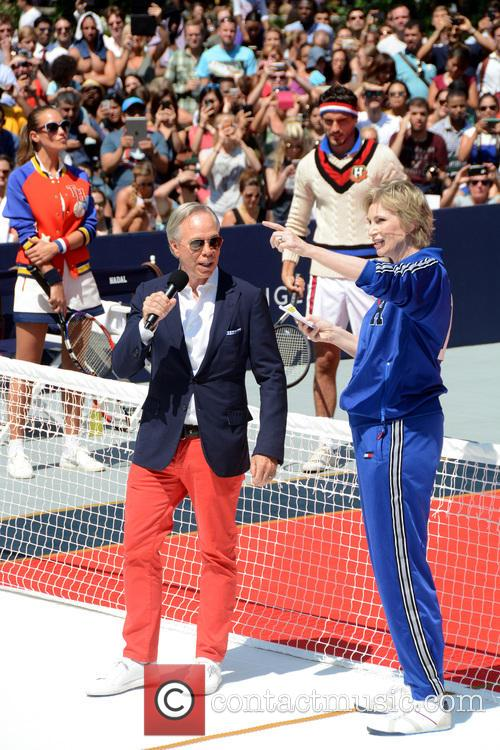 Tommy Hilfiger and Jane Lynch