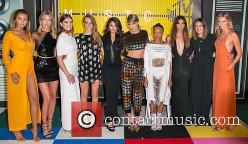 Gigi Hadid, Actress Serayah, Martha Hunt, Hailee Steinfeld, Cara Delevingne, Gomez, Taylor Swift, Mariska Hargitay, Lily Aldridge and Karlie Kloss