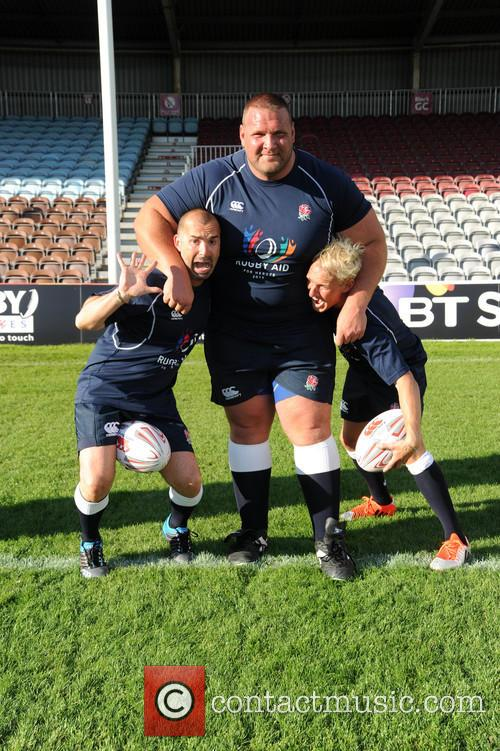 Louie Spence, Terry Hollands and Jamie Laing