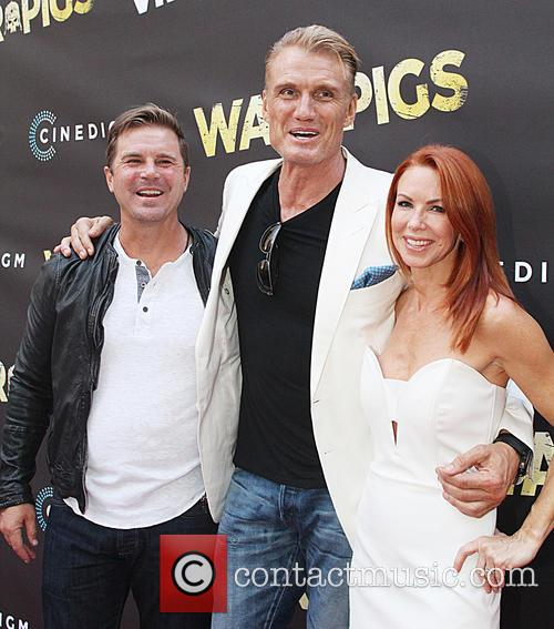 Dolph Lundgren and Challen Cates