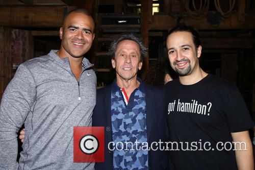Christopher Jackson, Brian Grazer and Lin-manuel Miranda