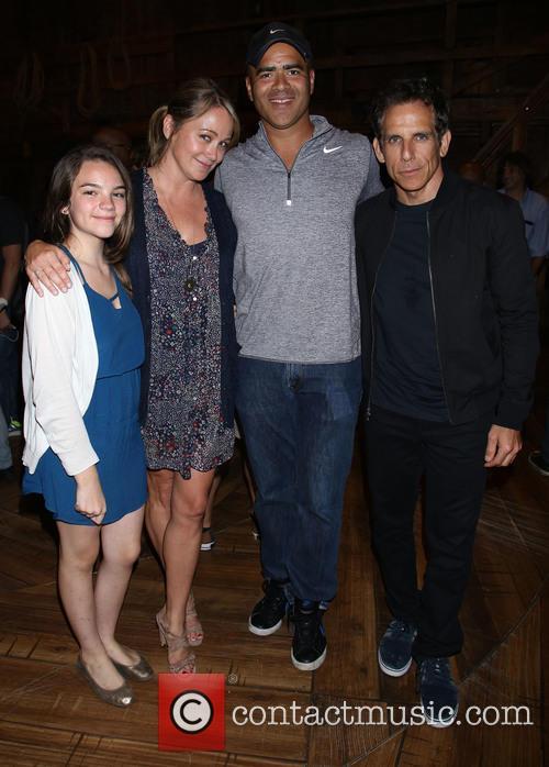 Ella Olivia Stiller, Christine Taylor, Christopher Jackson and Ben Stiller