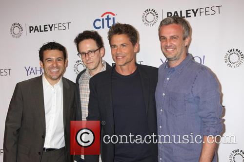 Fred Savage, Jarrad Paul, Rob Lowe and Andrew Mogel