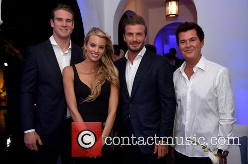 Ryan Tannehill, Lauren Tannehill, David Beckham and Simon Fuller