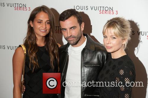 Alicia Vikander, Michelle Williams and Nicolas Ghesquiere