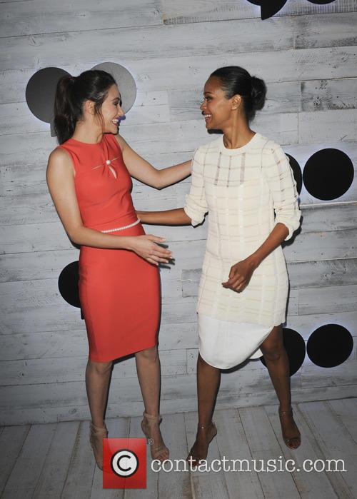 Emmy Rossum and Zoe Saldana